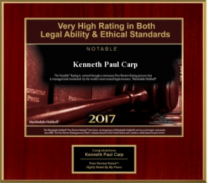 2017 Award for Kenneth Carp, St Louis Attorney at Law
