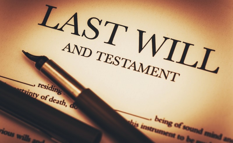 Last Will and Testament Document Ready to Sign. Last Will Document and Fountain Pen Closeup Photo.